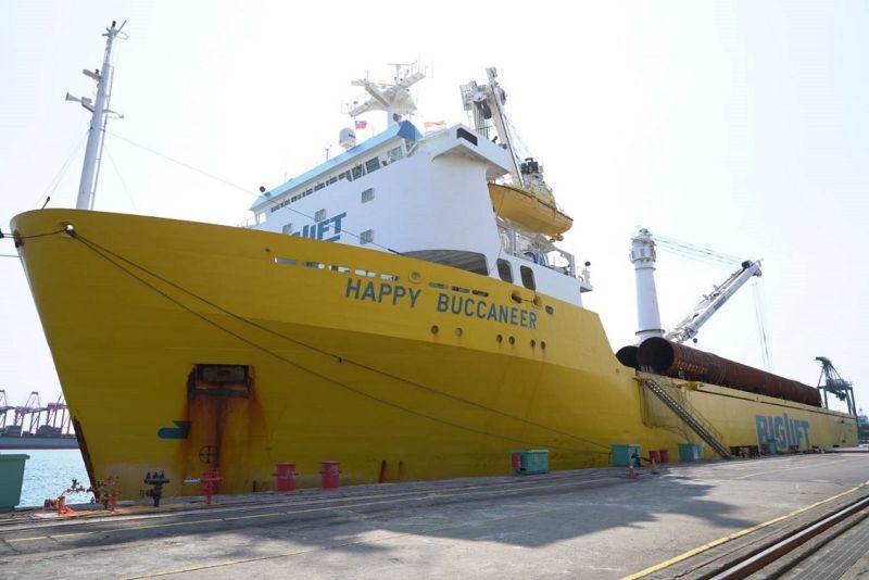 台船製作之水下基樁(Pin Pile,PP)於2021年7月8日至7月9日共二日進行交運。