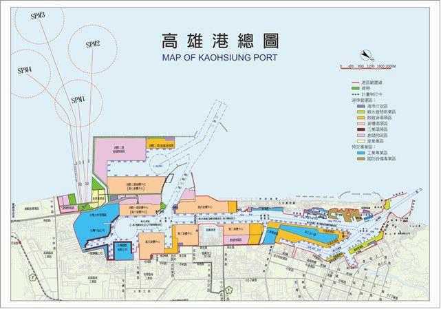 高雄港區總圖。  圖片來源:台灣港務公司提供
