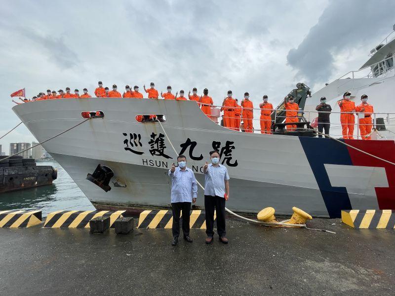 巡護九號遠航中西太平洋,32天馳援千浬救人返抵高雄港。